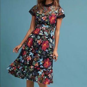 Anthropologie Vone Janine Floral Dress